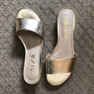 Unisa Gold Sandals - size 8M